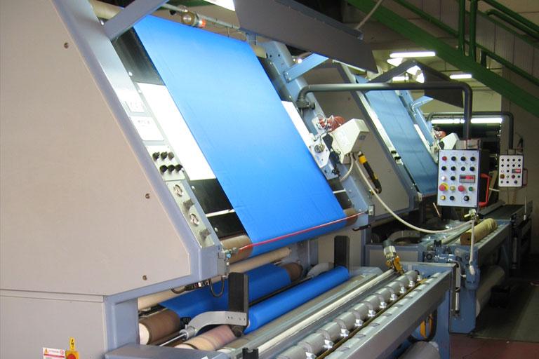 macchinario finissaggio tessuti